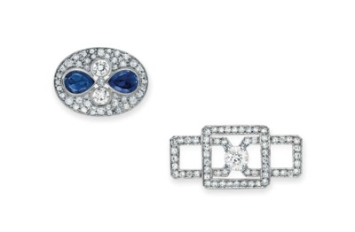 A GROUP OF TWO DIAMOND BROOCHE