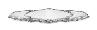 A FRENCH SILVER-MOUNTED MIRROR