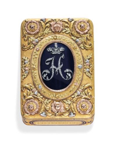 A GERMAN VARI-COLORED GOLD, EN