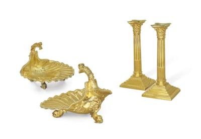 A PAIR OF SILVER-GILT BASKETS