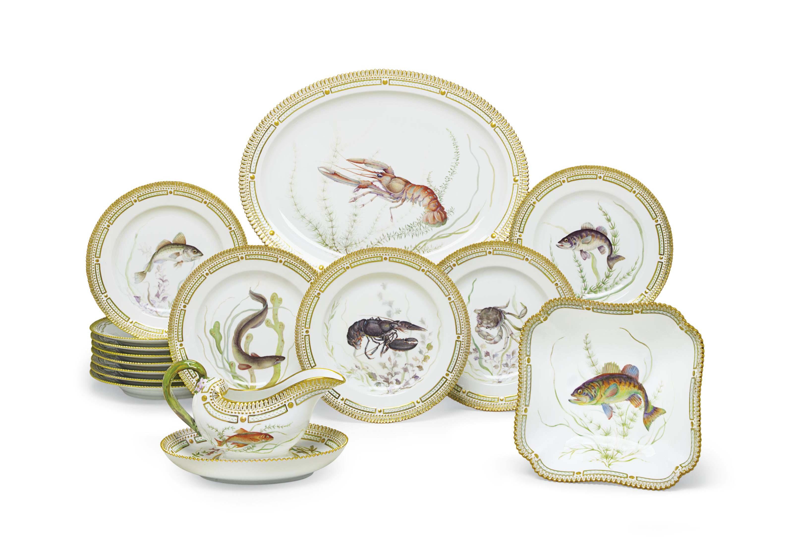 A Royal Copenhagen Porcelain Ichtyological Part Dinner  sc 1 st  Castrophotos & Tableset and Tableware - Castrophotos