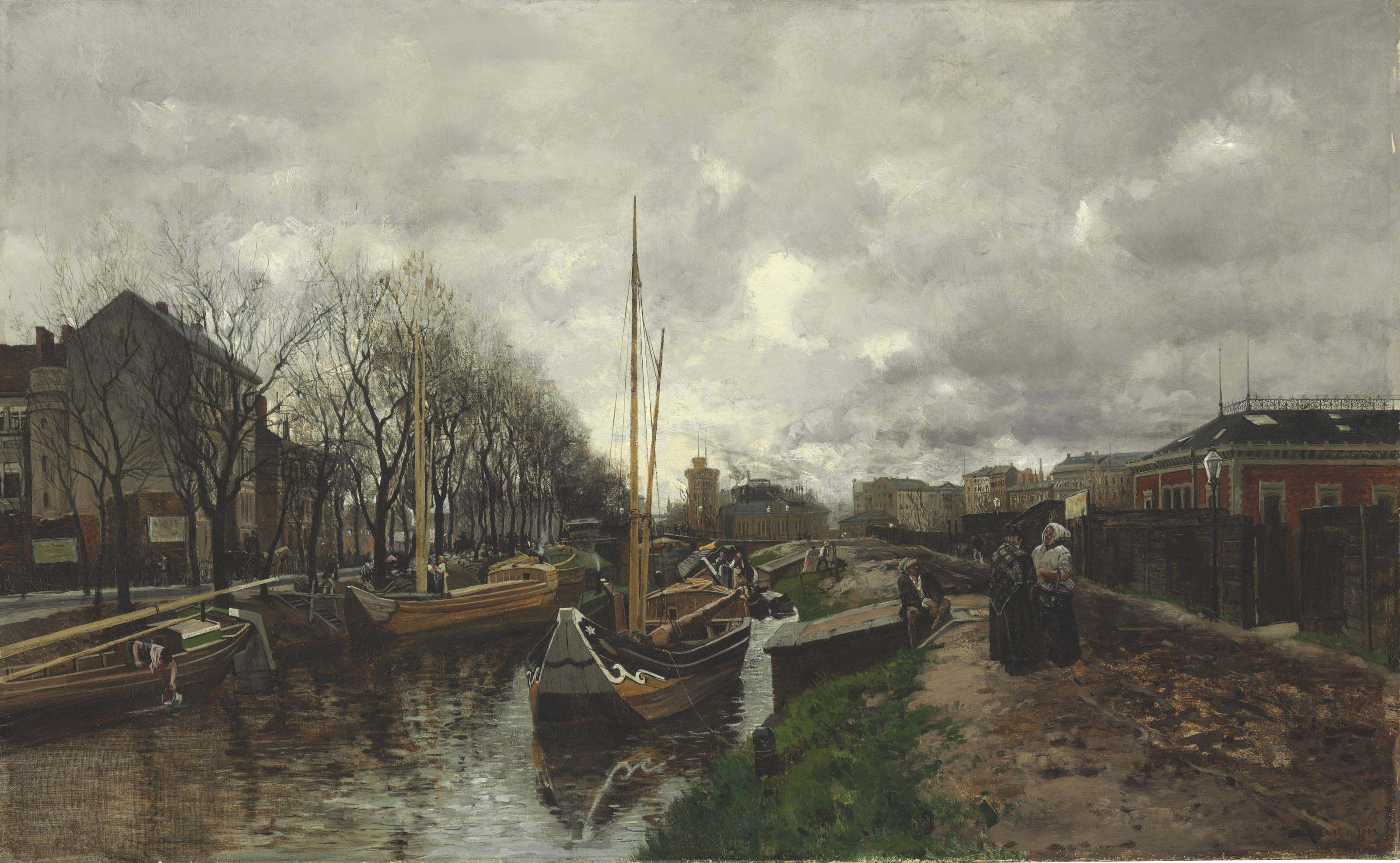 Bateaux sur un affluent de la Seine