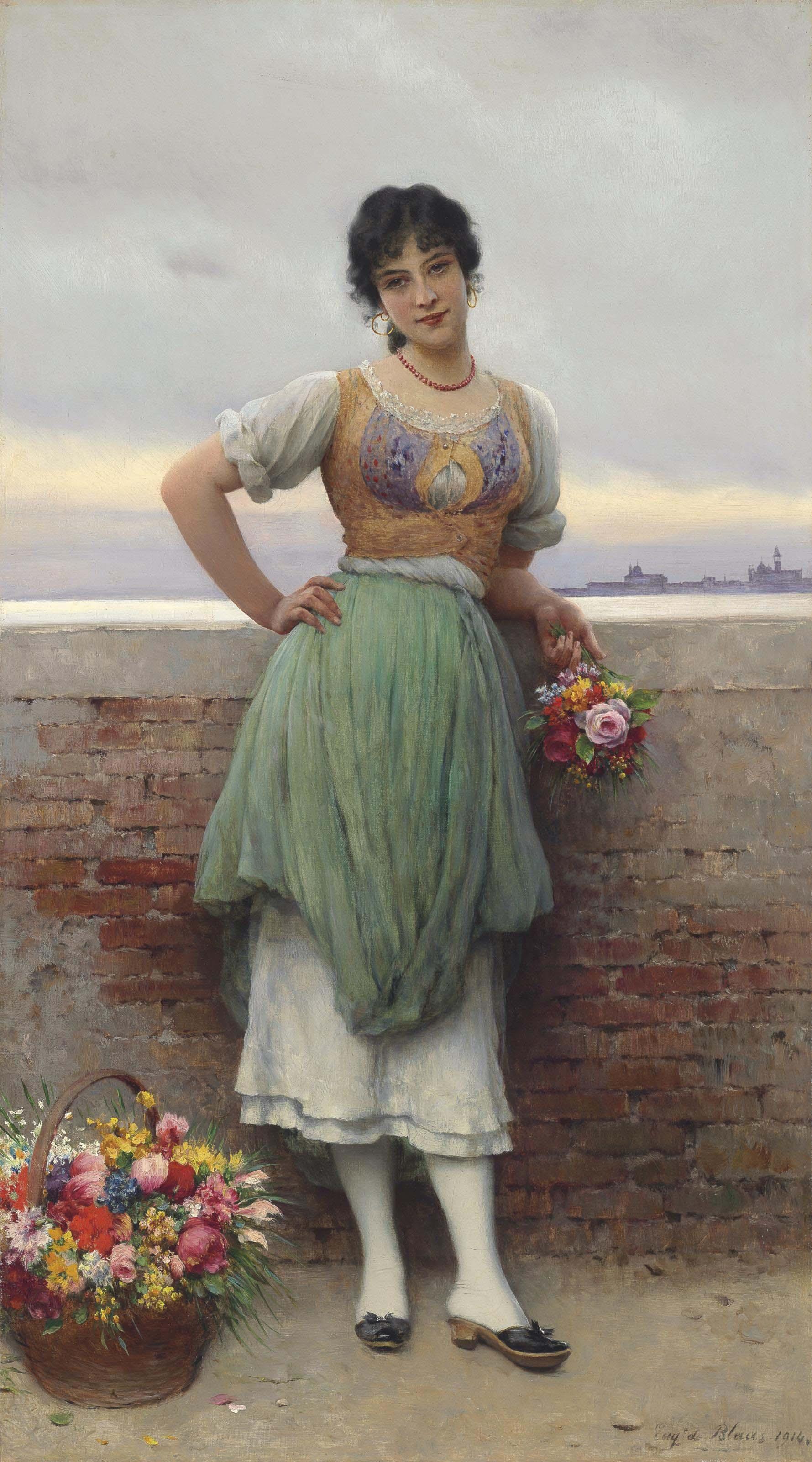The Venetian Flower Seller