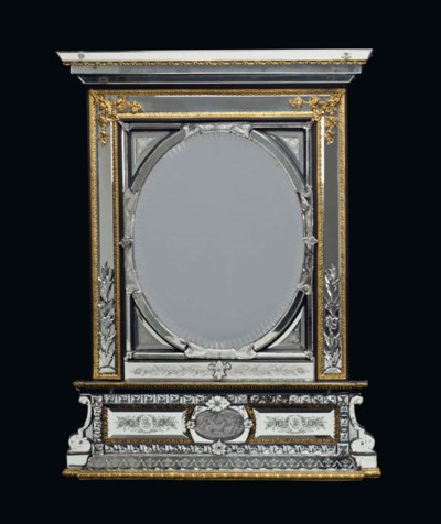 A FRENCH ORMOLU-MOUNTED ETCHED
