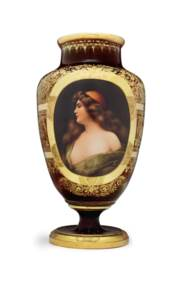 A VIENNA STYLE PORCELAIN RUBY-