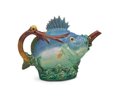 A MINTONS MAJOLICA 'BLOWFISH'