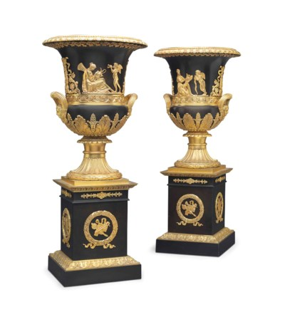 A PAIR OF ORMOLU-MOUNTED PATIN