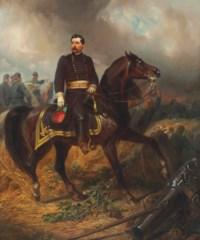 General George B. McClellan on the Battlefield of Antietam