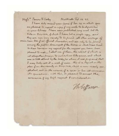 JEFFERSON, Thomas (1743-1826),