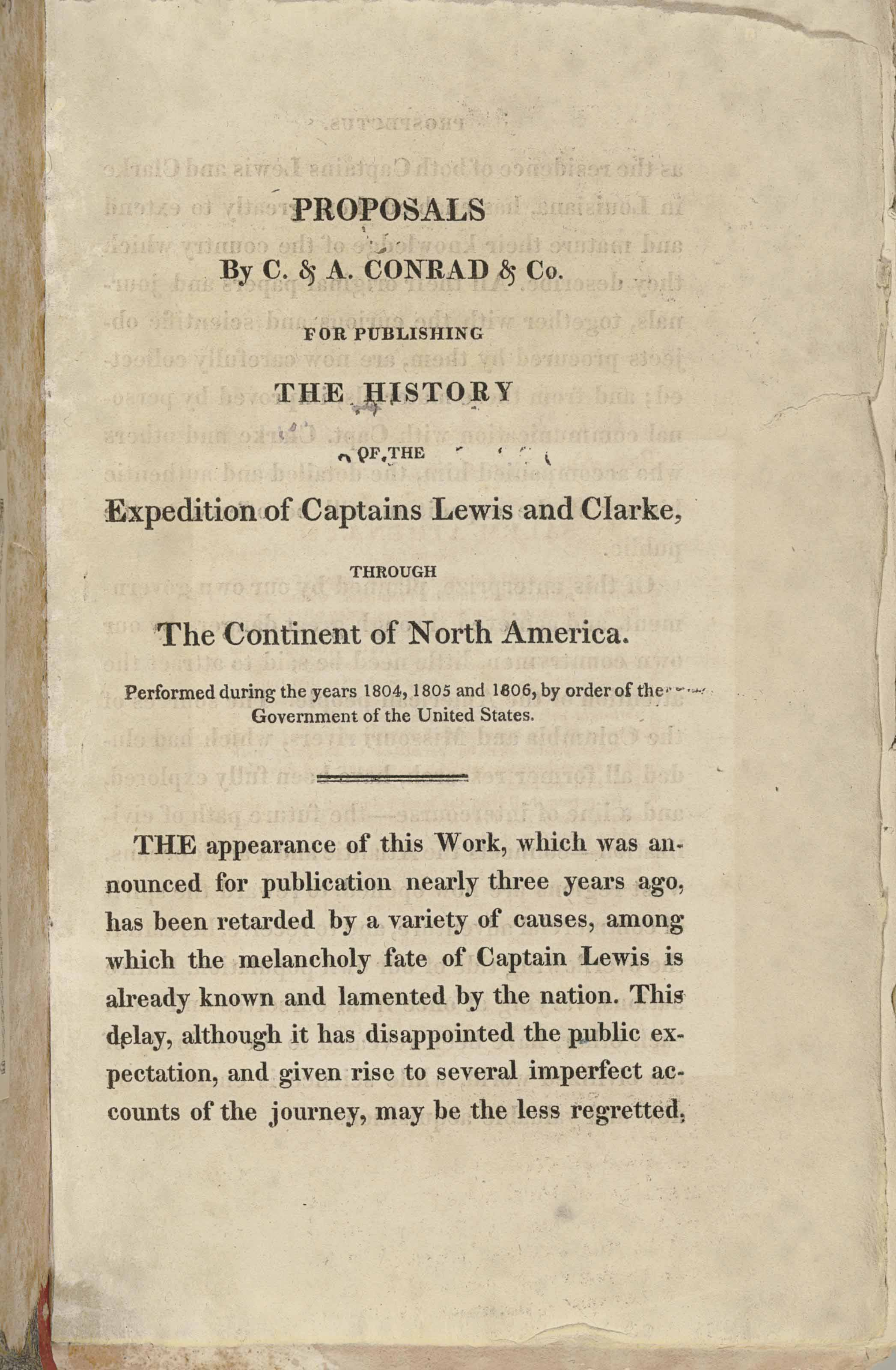 [LEWIS AND CLARK EXPEDITION].