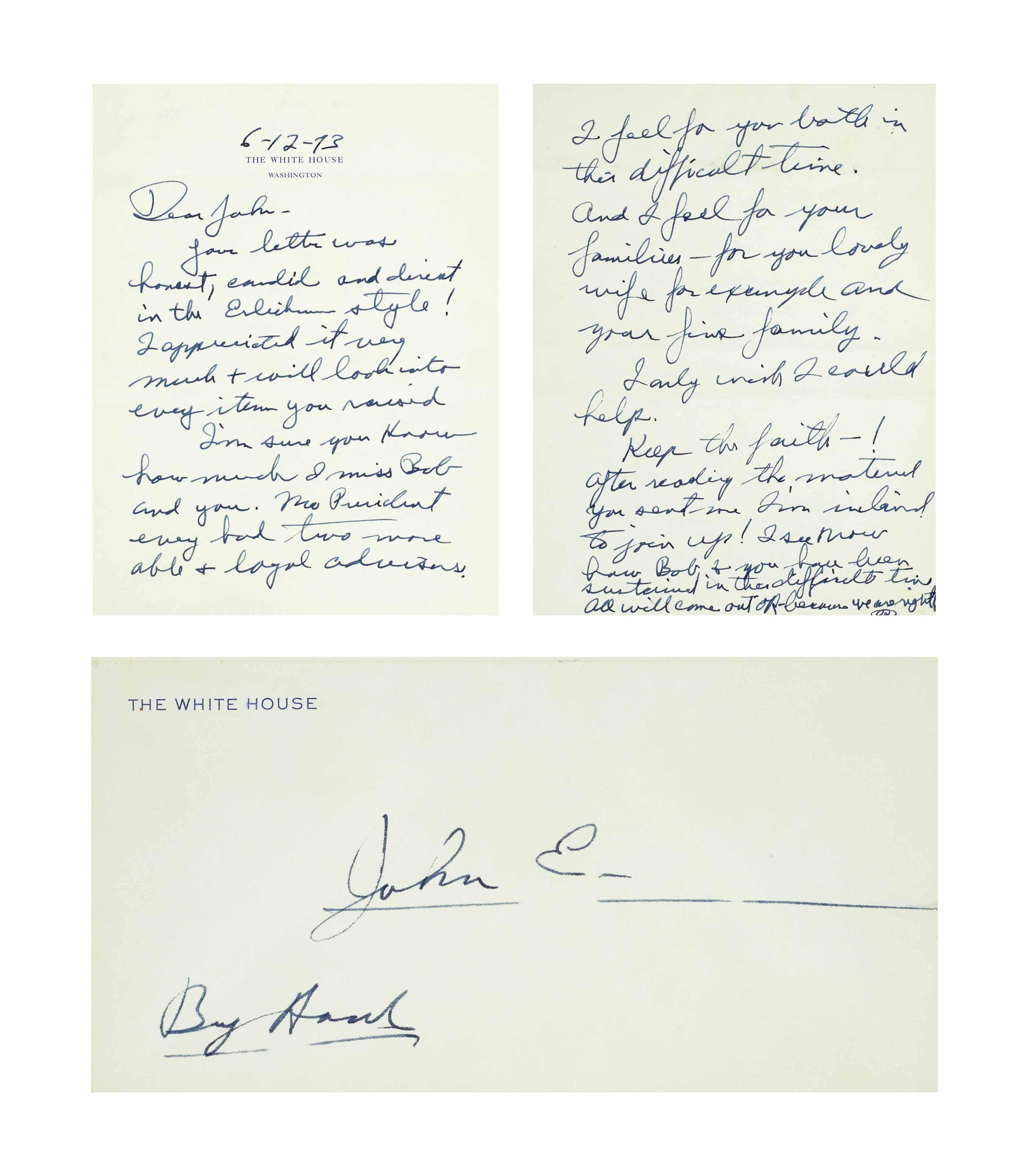 NIXON, Richard M. Autograph le