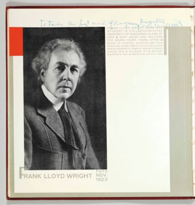 [WRIGHT, Frank Lloyd.] -- H.Th