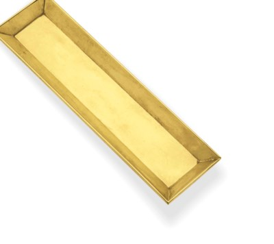 A GOLD TRAY, BY CARTIER