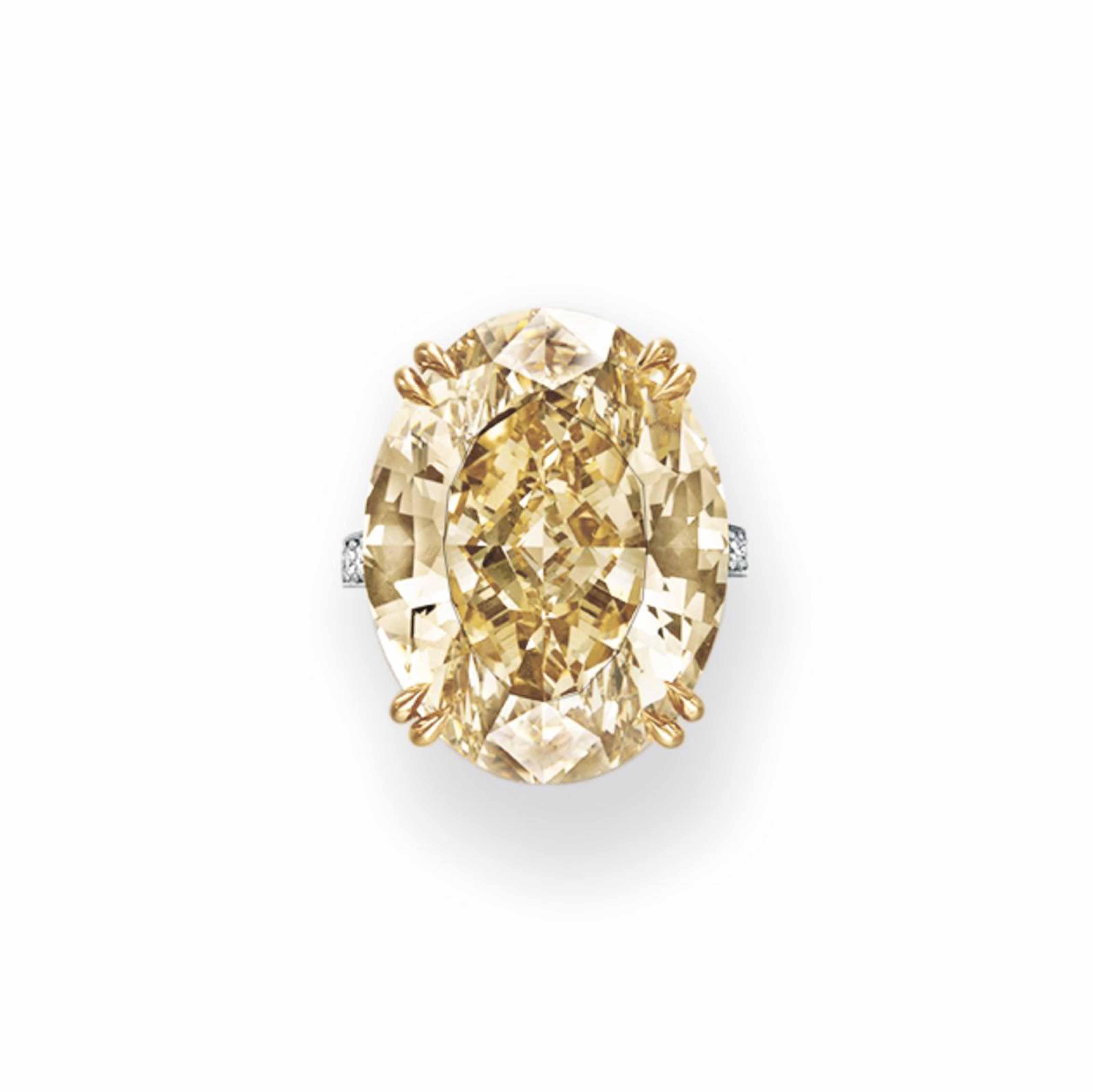 AN IMPRESSIVE COLORED DIAMOND