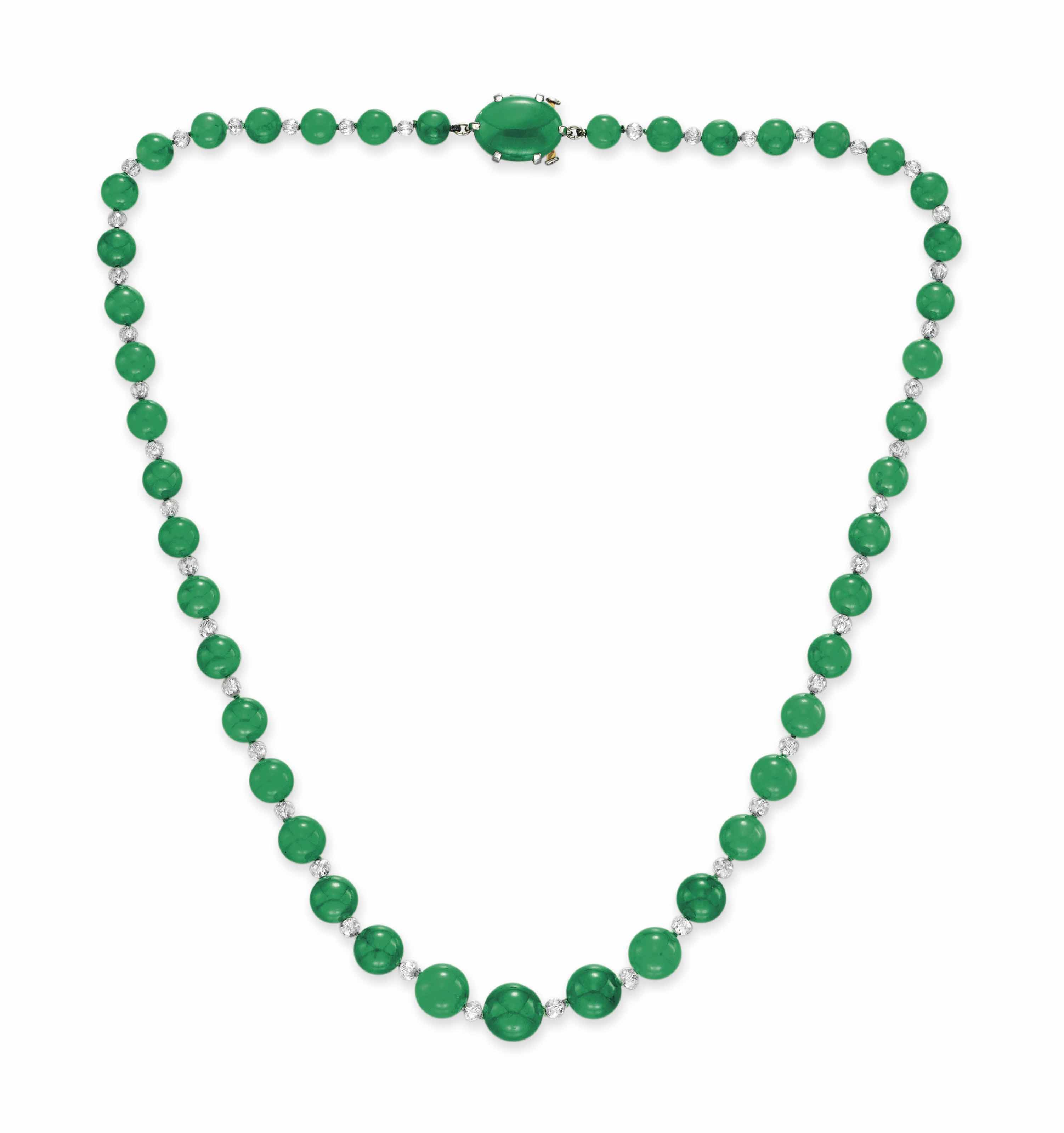 mottled bead a necklace look green nyr christie beads s jade polished long pale