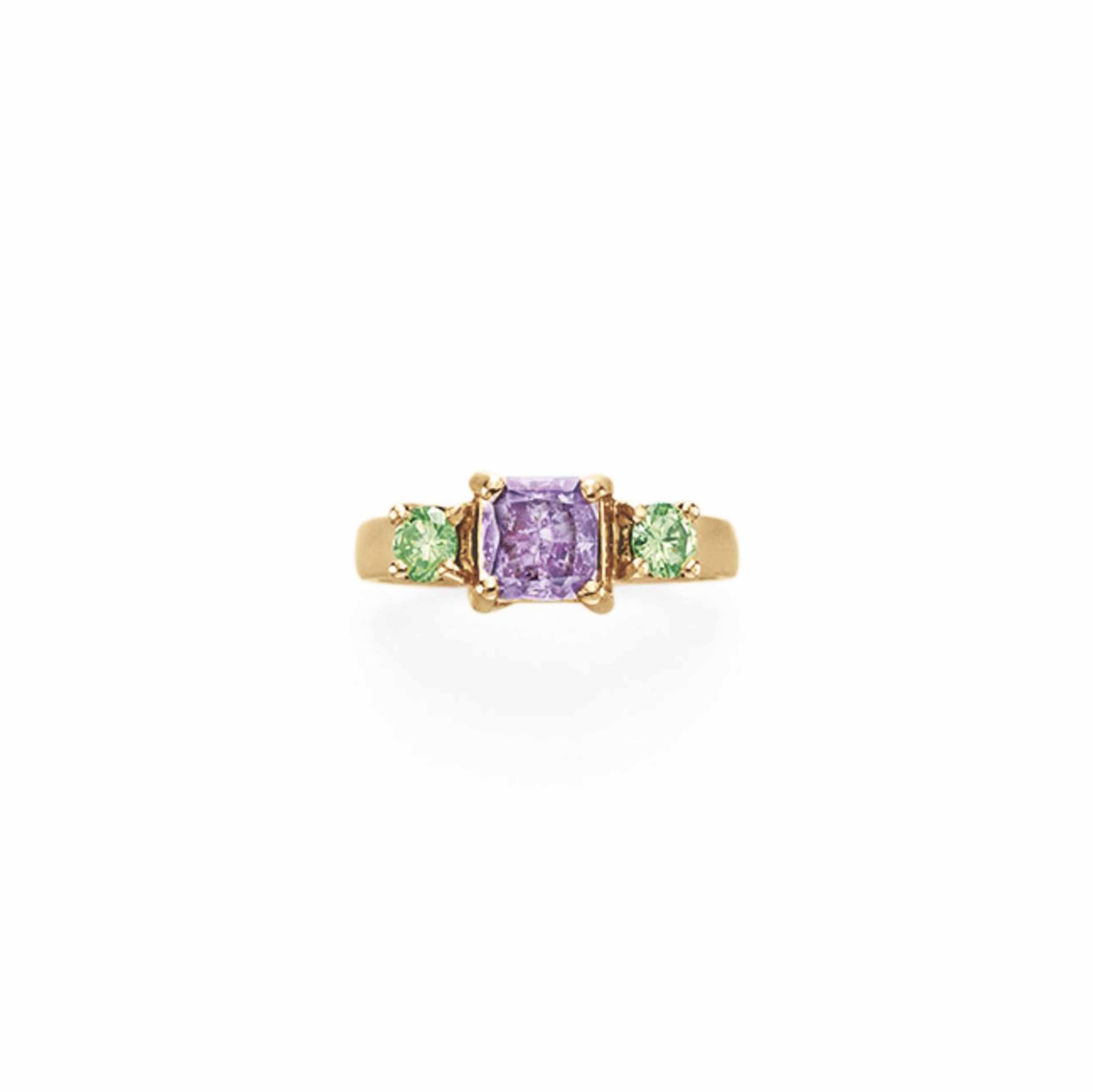 A COLORED DIAMOND RING
