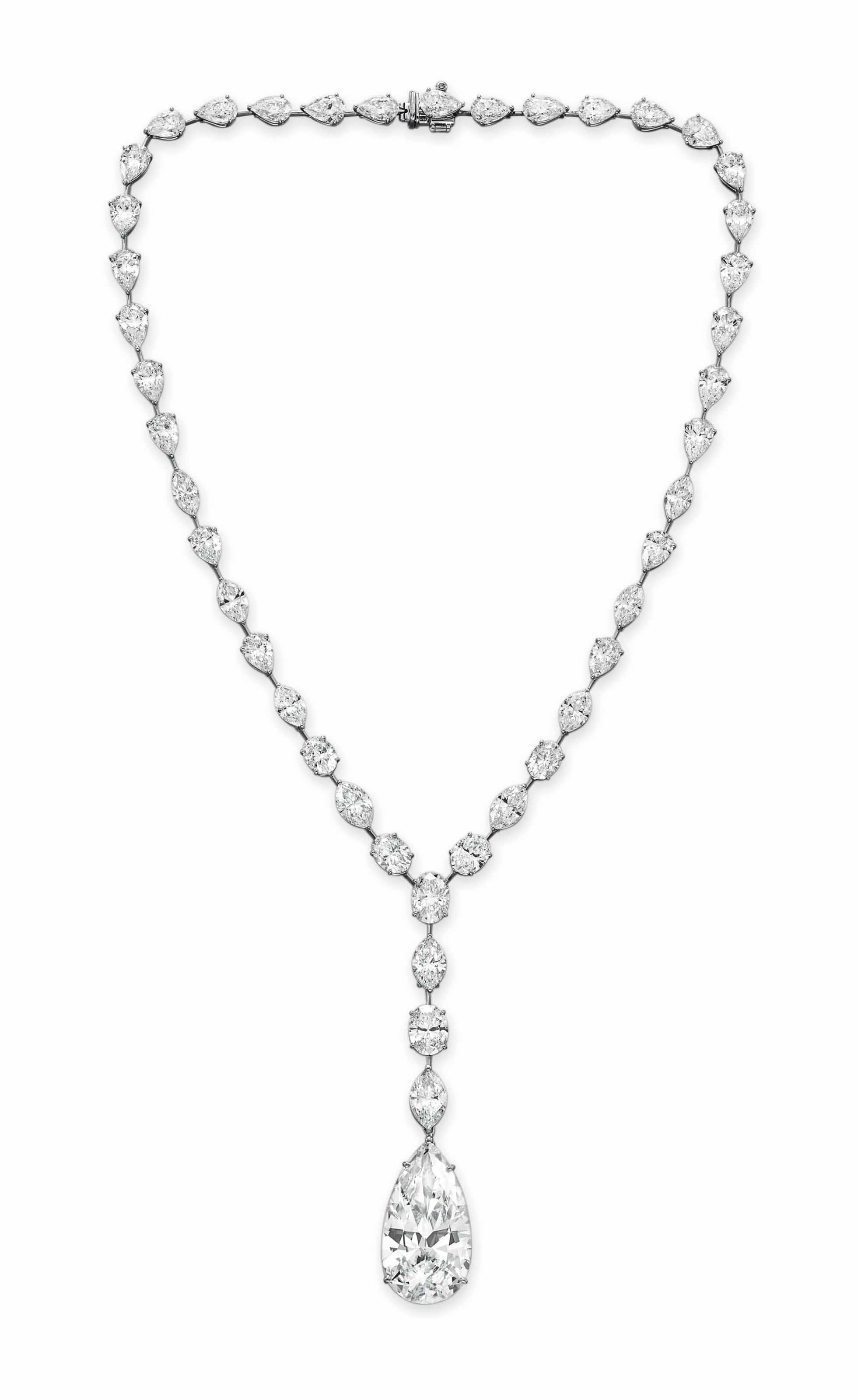 A SUPERB DIAMOND PENDANT NECKLACE, BY LEVIEV