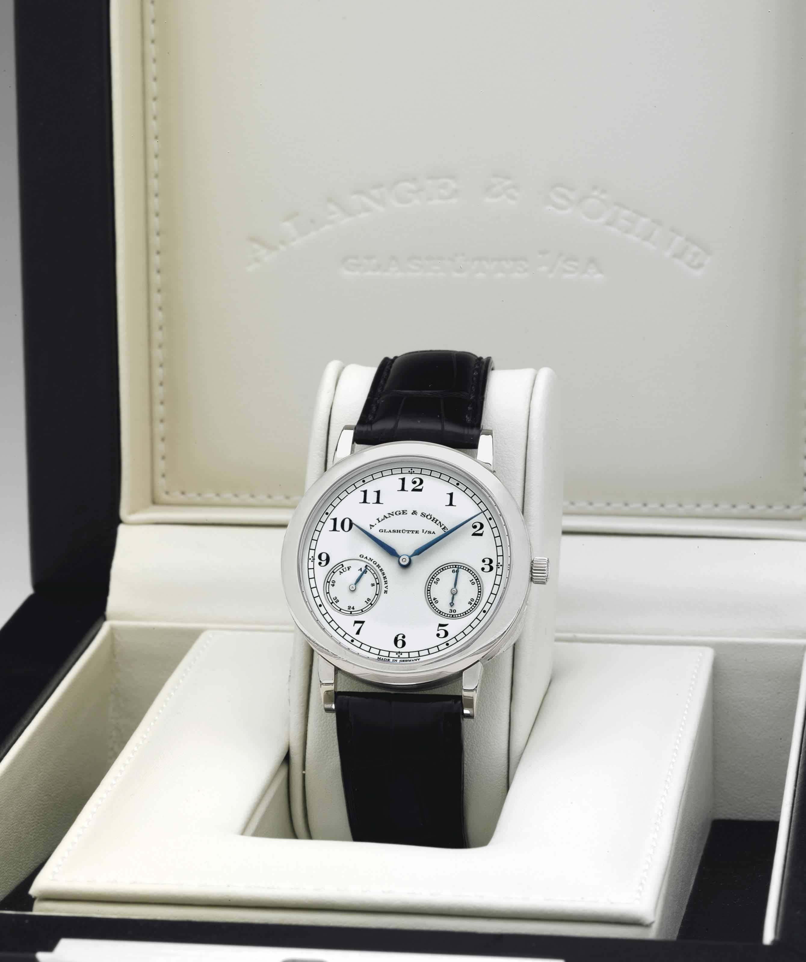 A. Lange & Söhne. A Fine Limited Edition 18k White Gold ...
