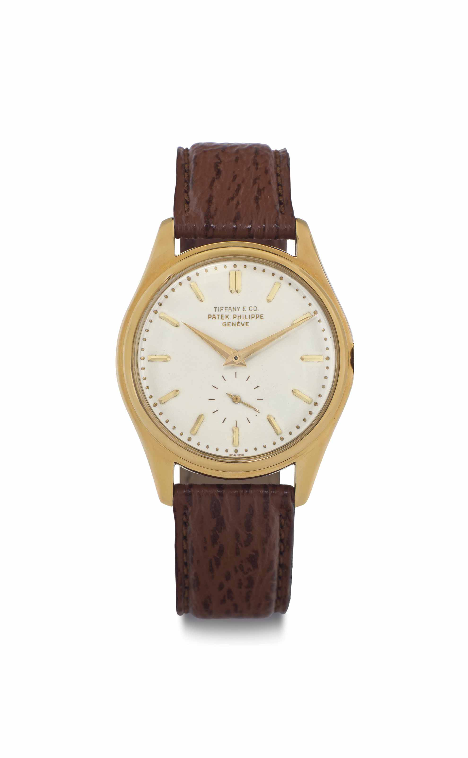 Patek Philippe. A Fine and Rare 18k Gold Automatic Wristwatch with Enamel Dial and Original Certificate Booklet