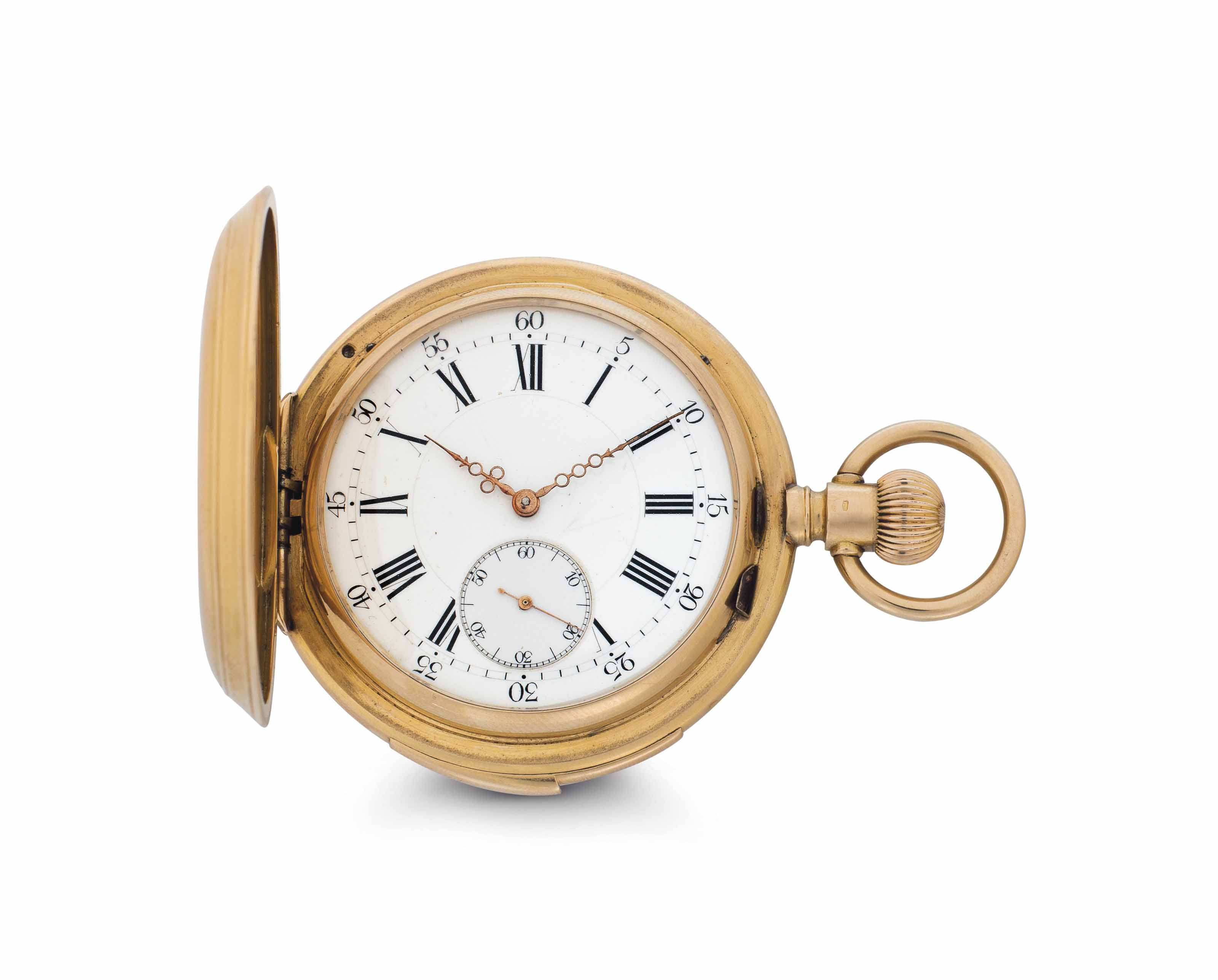 Humbert & Fils.  An 18k Pink Gold Minute Repeating Hunter Case Keyless Lever Pocket Watch