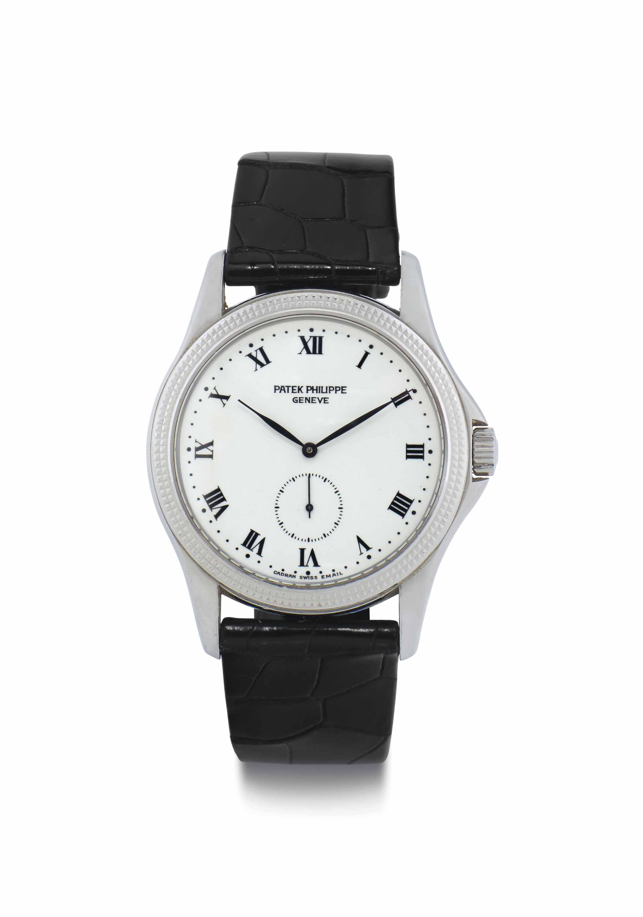 Patek Philippe. An 18k White Gold Wristwatch