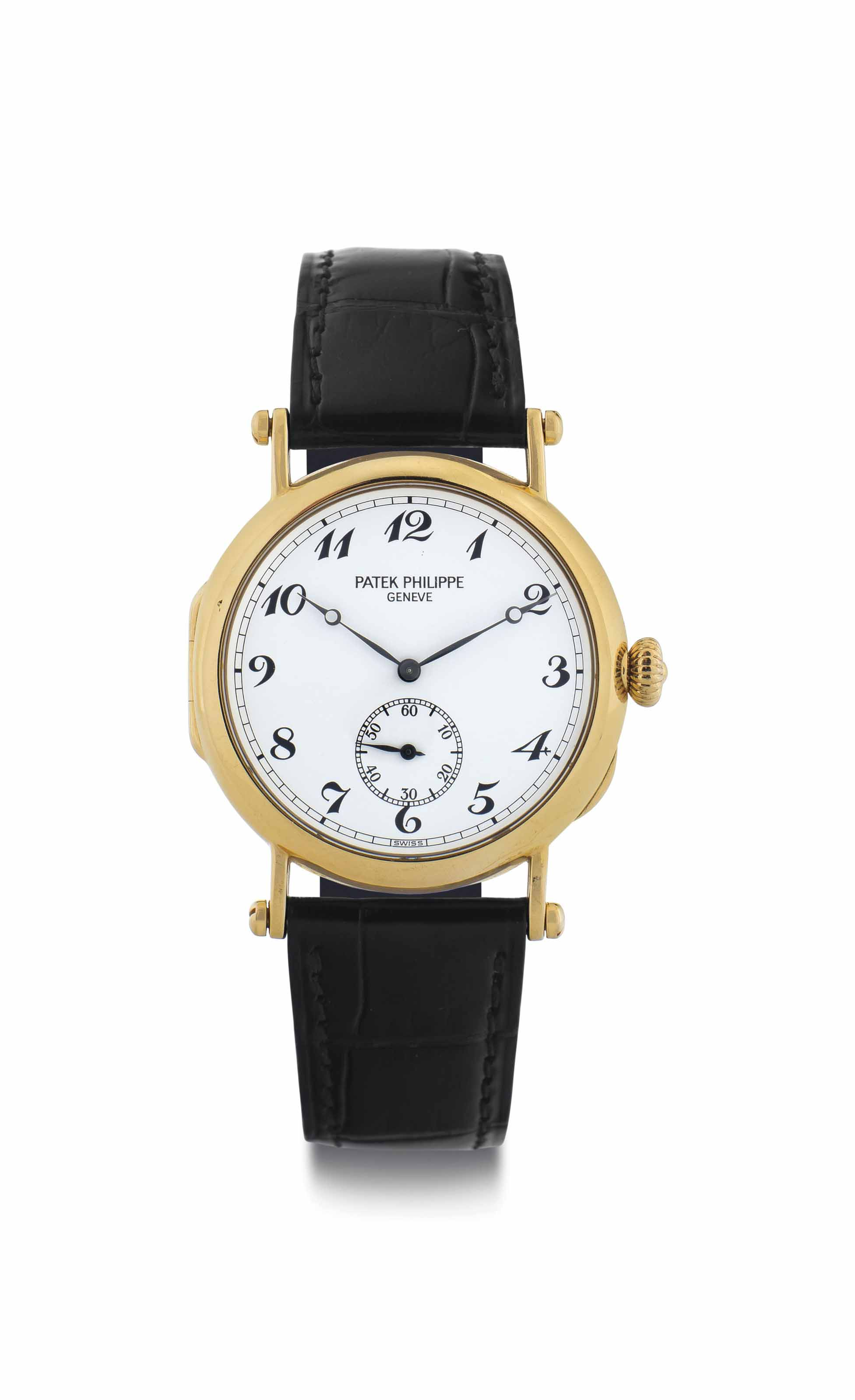 Patek Philippe. A Fine Limited Edition 18k Gold Wristwatch with Breguet Numerals and Original Certificate