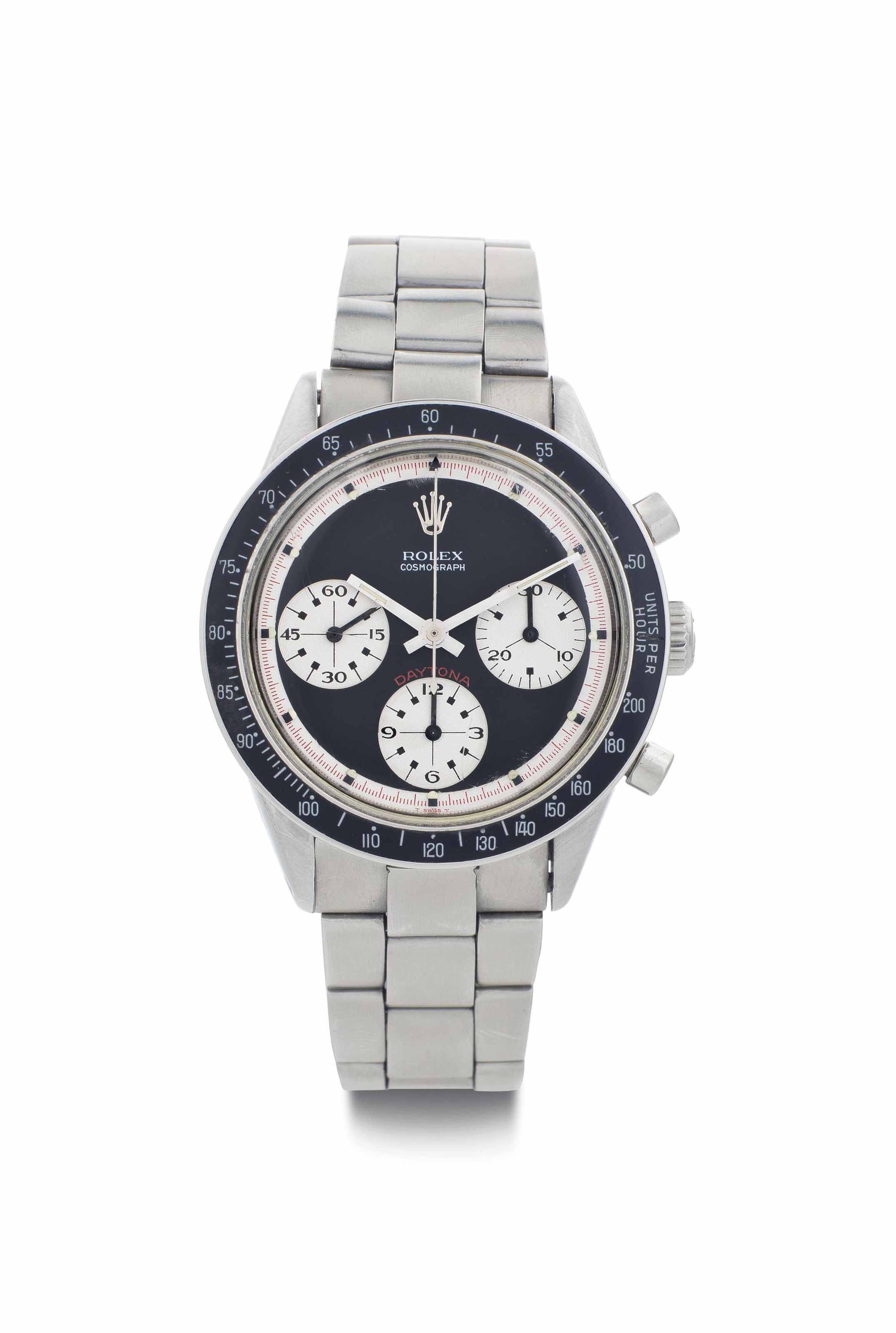 Rolex. A Fine Stainless Steel Chronograph Wristwatch with Bracelet