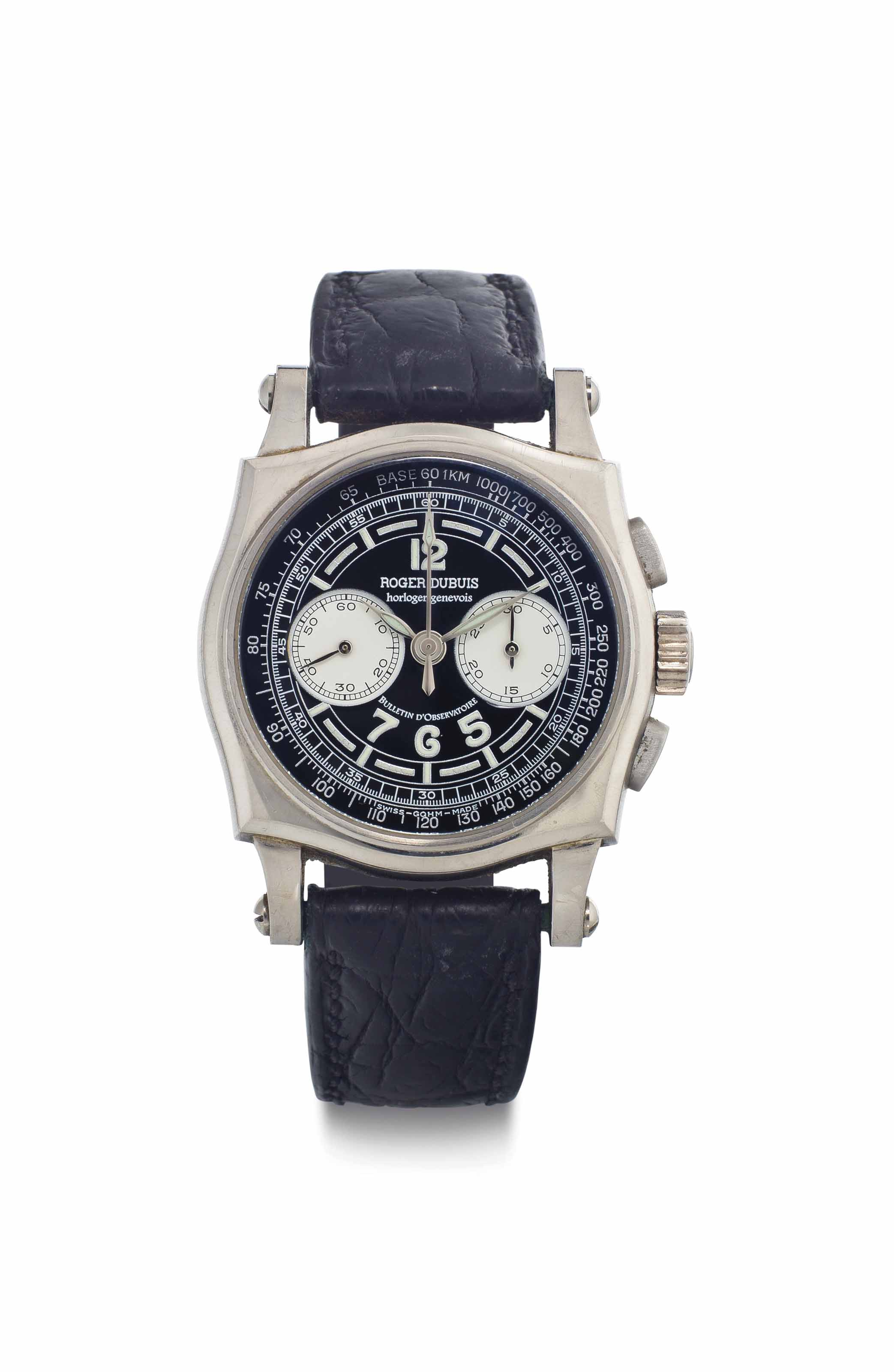 Roger Dubuis. An 18k White Gold Chronograph Wristwatch