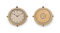 Haas Neveux. An 18k Gold and Enamel Thin Openface Keyless Lever Dress Watch with Presentation Box
