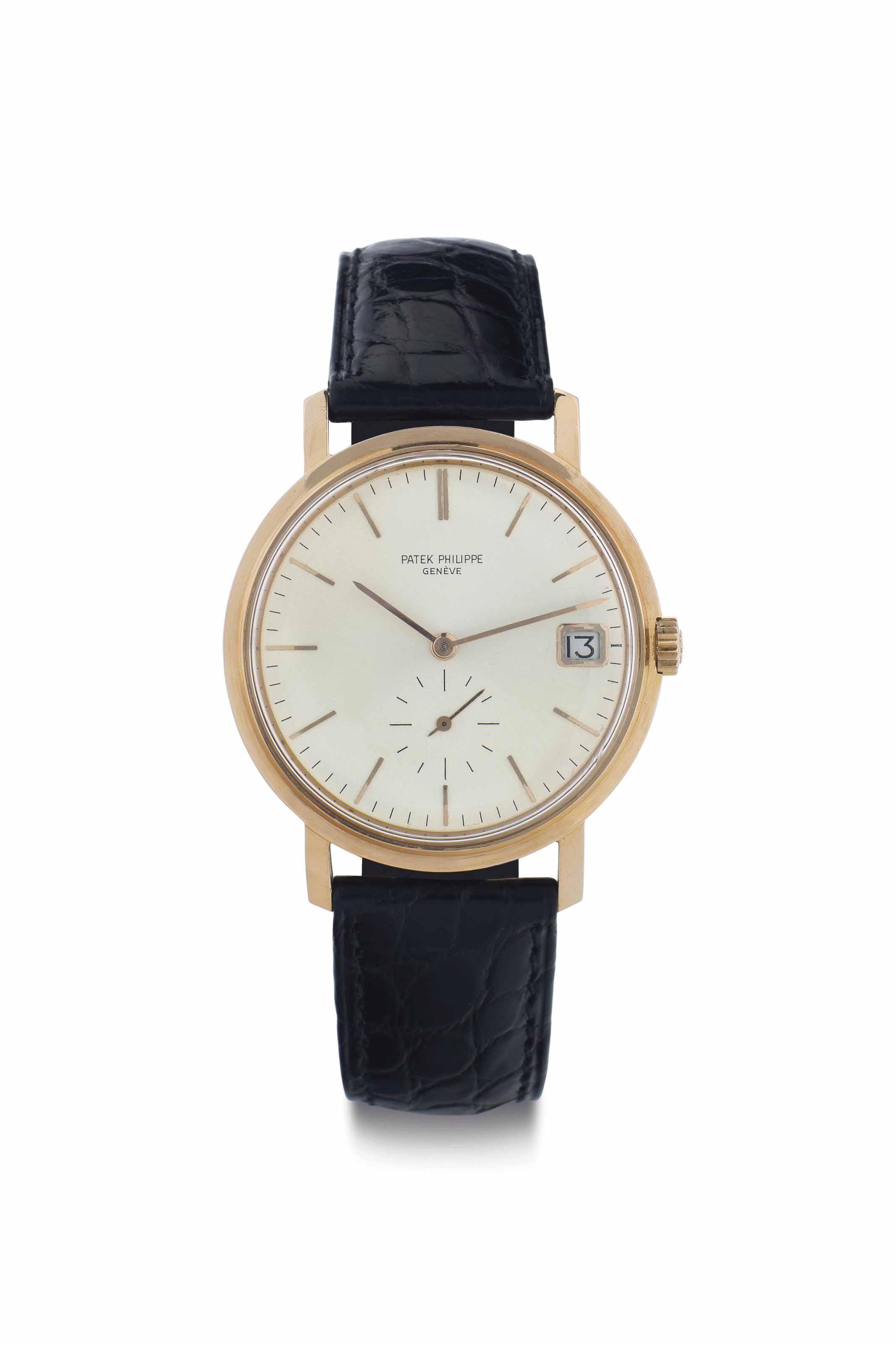 Patek Philippe. A Fine and Rare 18k Pink Gold Automatic Wristwatch with Date