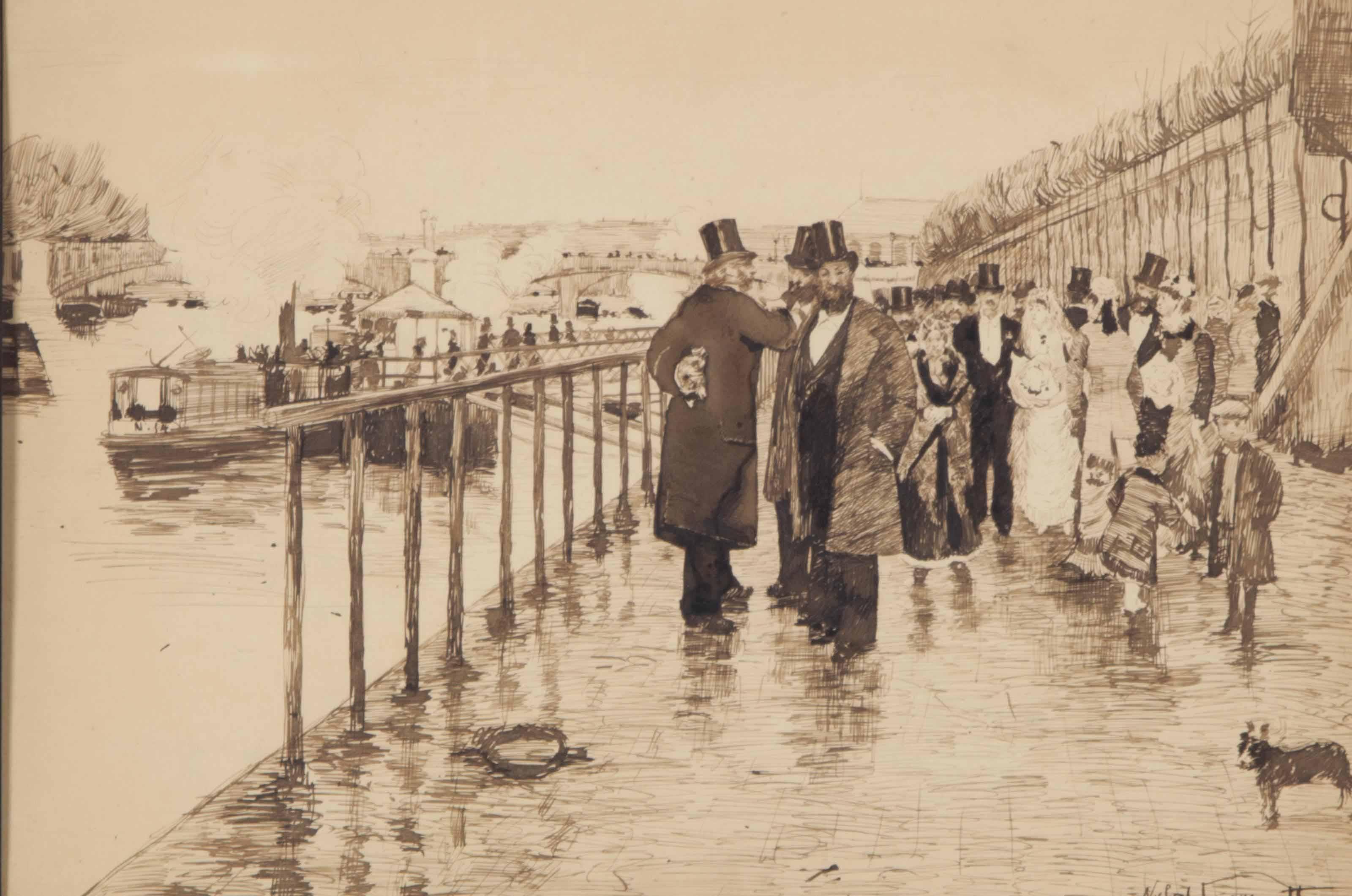 Wedding on the Seine