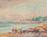 Good Harbor Beach; and two companion works