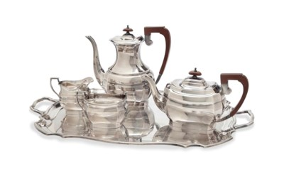 AN ENGLISH FOUR PIECE SILVER T