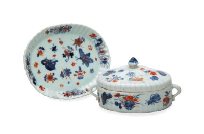 A 'CHINESE IMARI' BOX, COVER A
