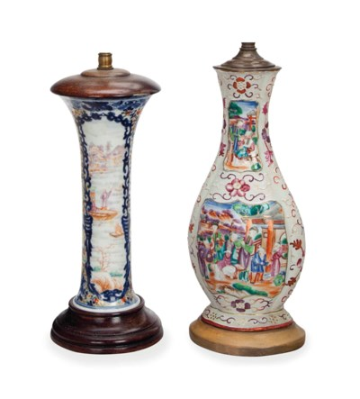 TWO CHINESE EXPORT VASES, MOUN
