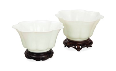 A PAIR OF CHINESE LOBED BEIJIN