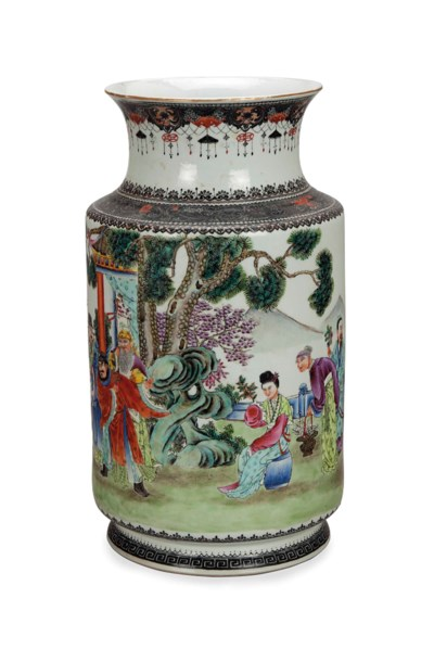 A CHINESE CYLINDRICAL FAMILLE