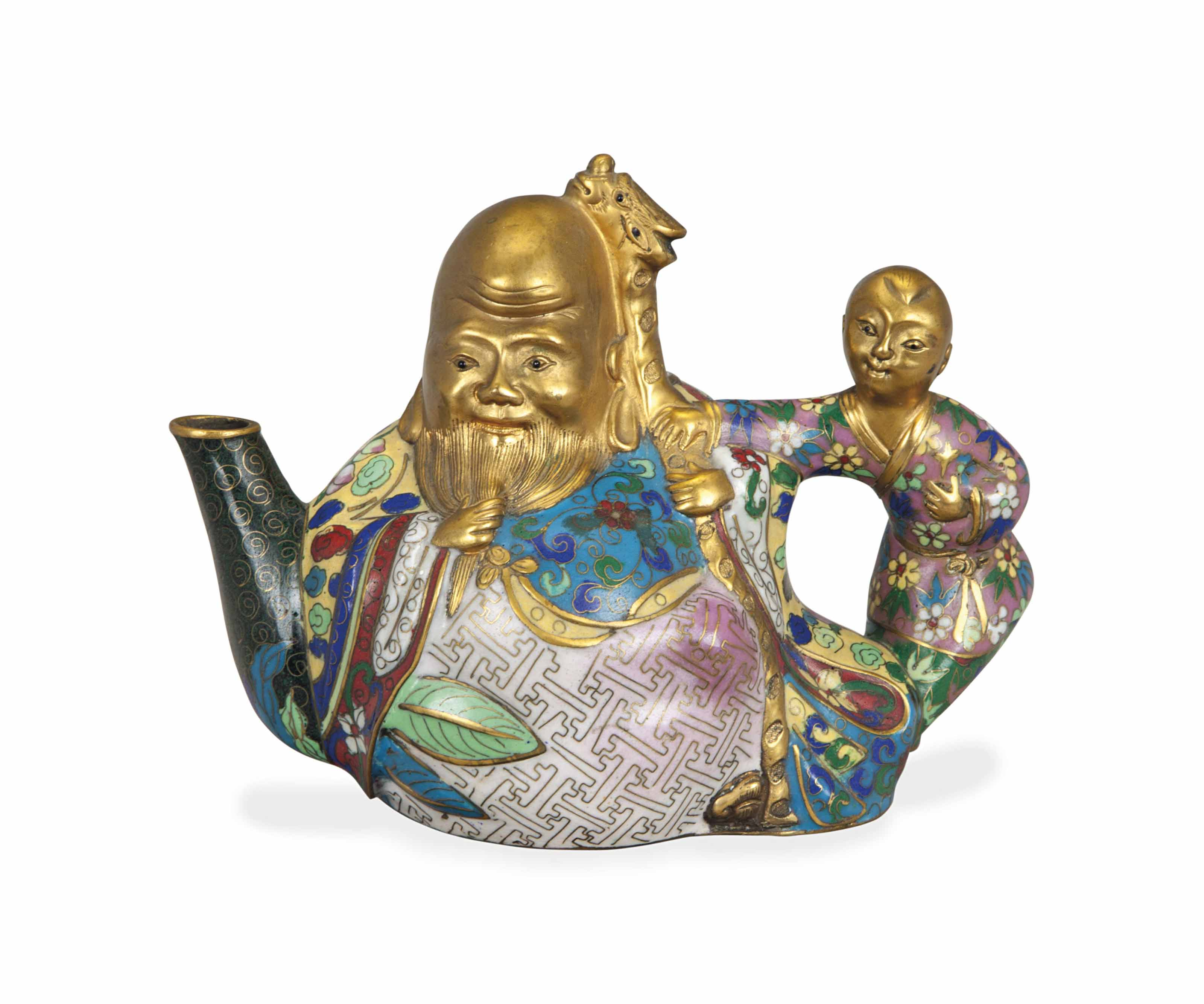 A CHINESE GILT DECORATED CLOIS