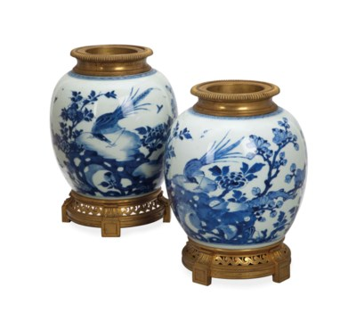 A PAIR OF CHINESE GILT METAL M
