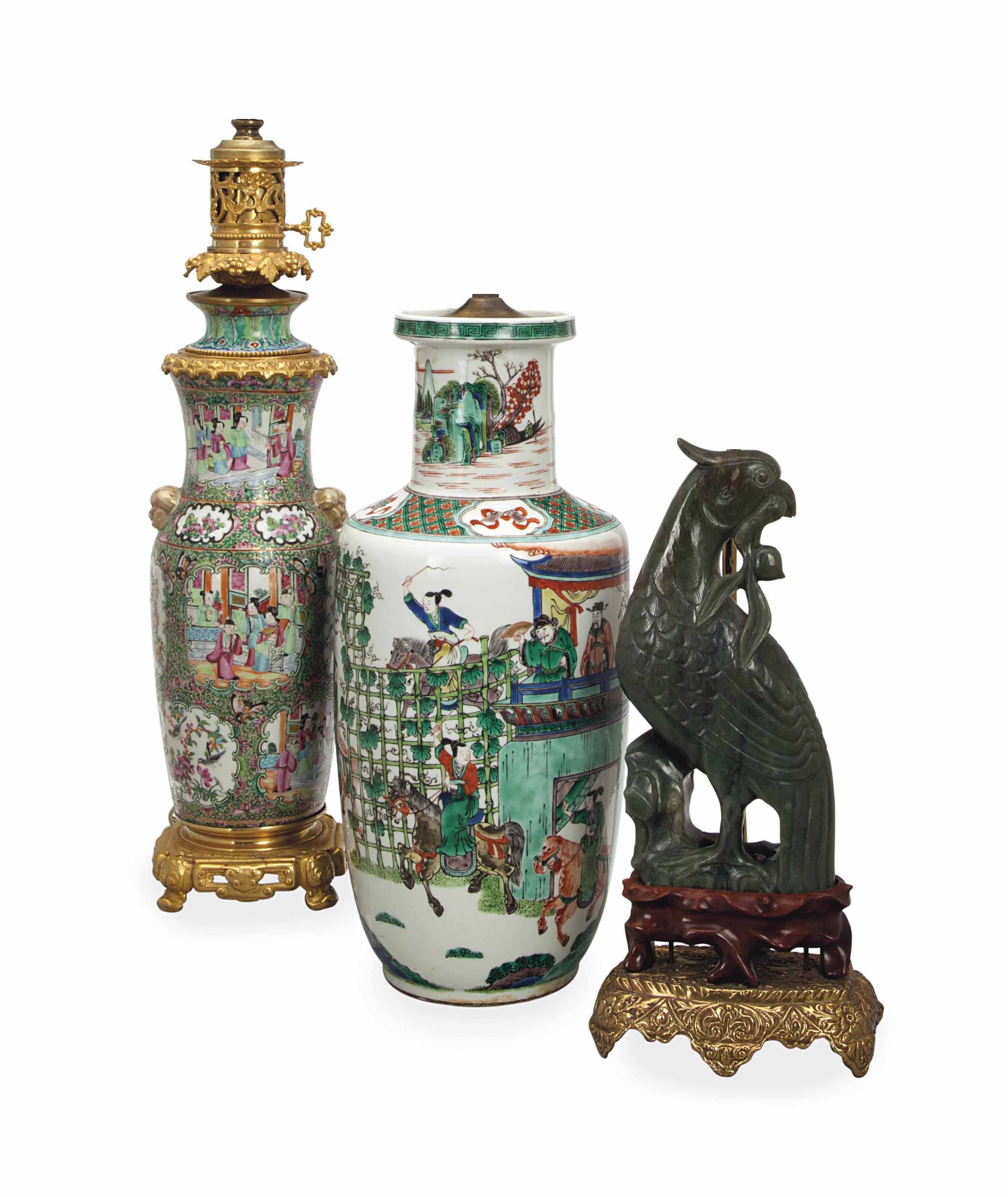TWO CHINESE DECORATIVE OBJECTS