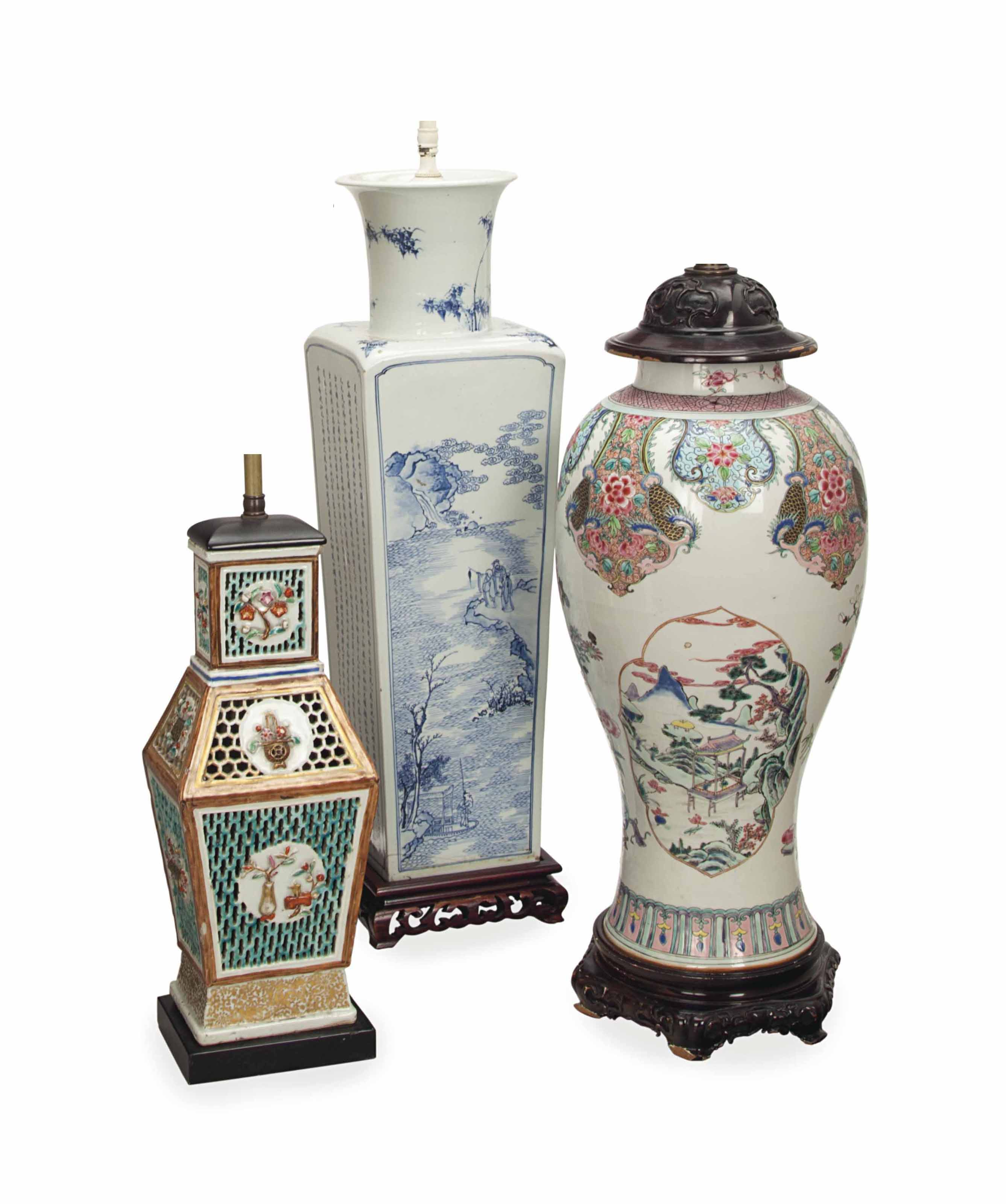 A GROUP OF CHINESE VASES, MOUN