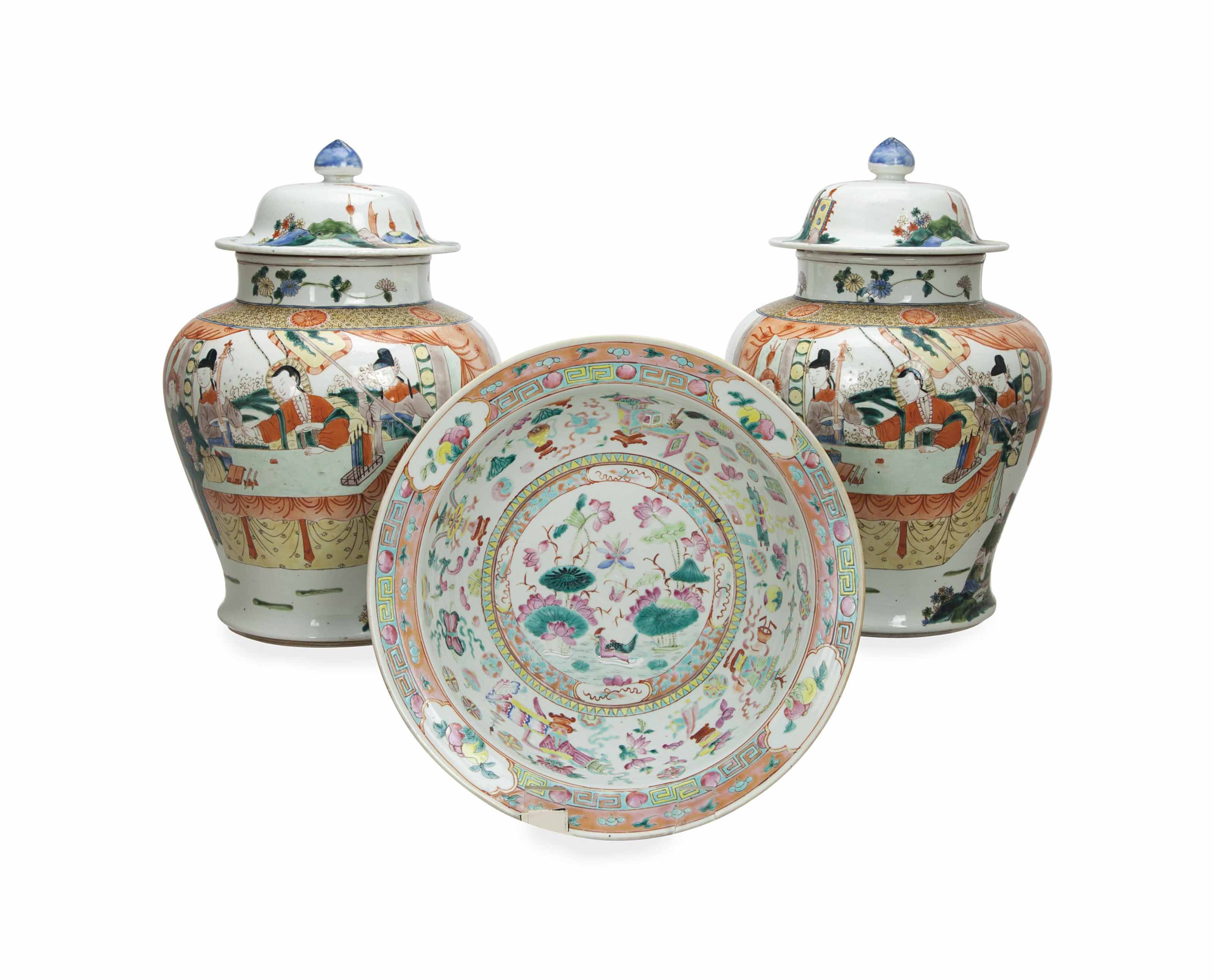 A CHINESE FAMILLE ROSE BASIN,