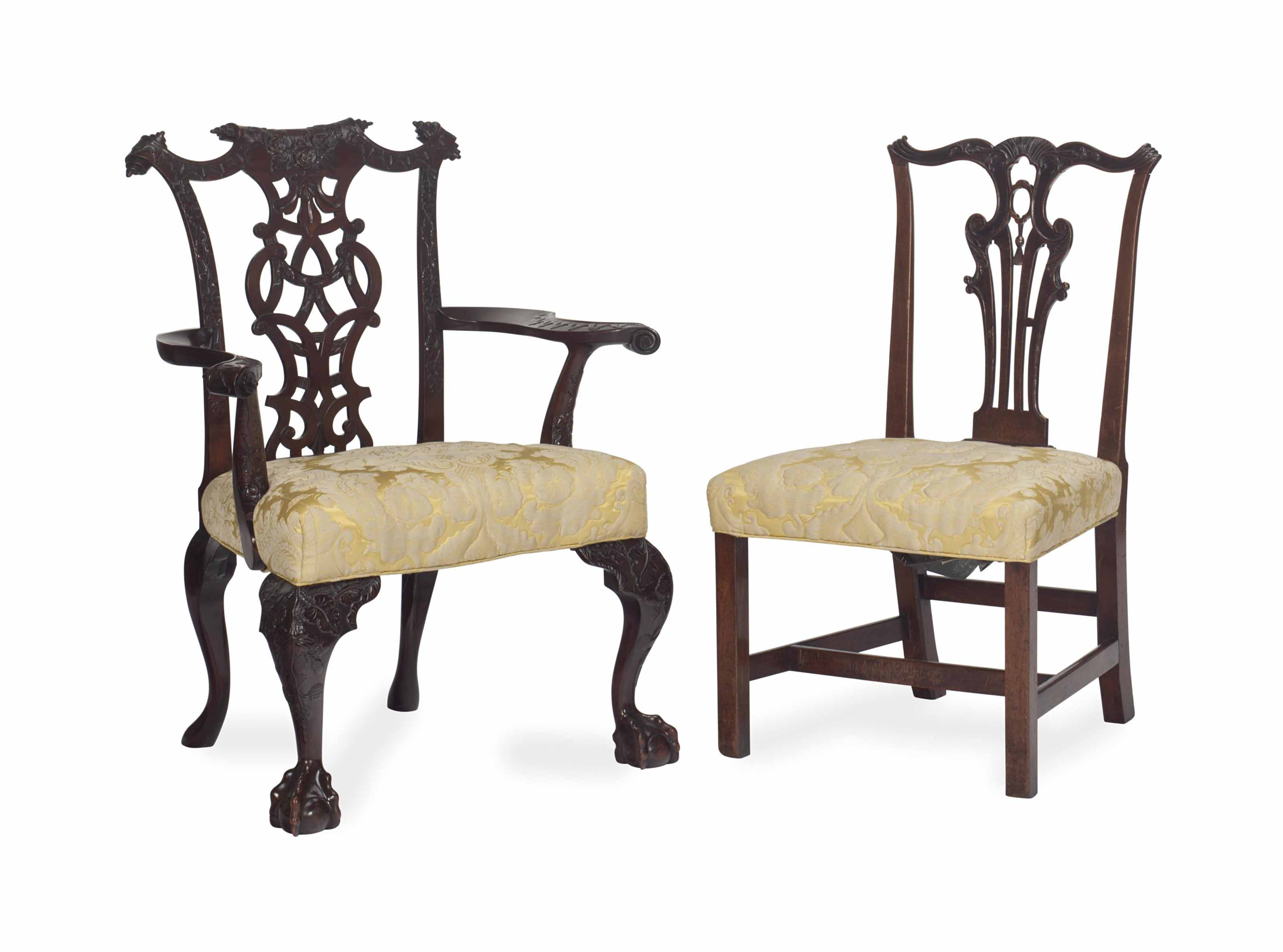 A GEORGIAN SIDE CHAIR AND A GE