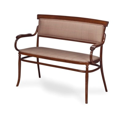 A BENTWOOD AND UPHOLSTERED SET