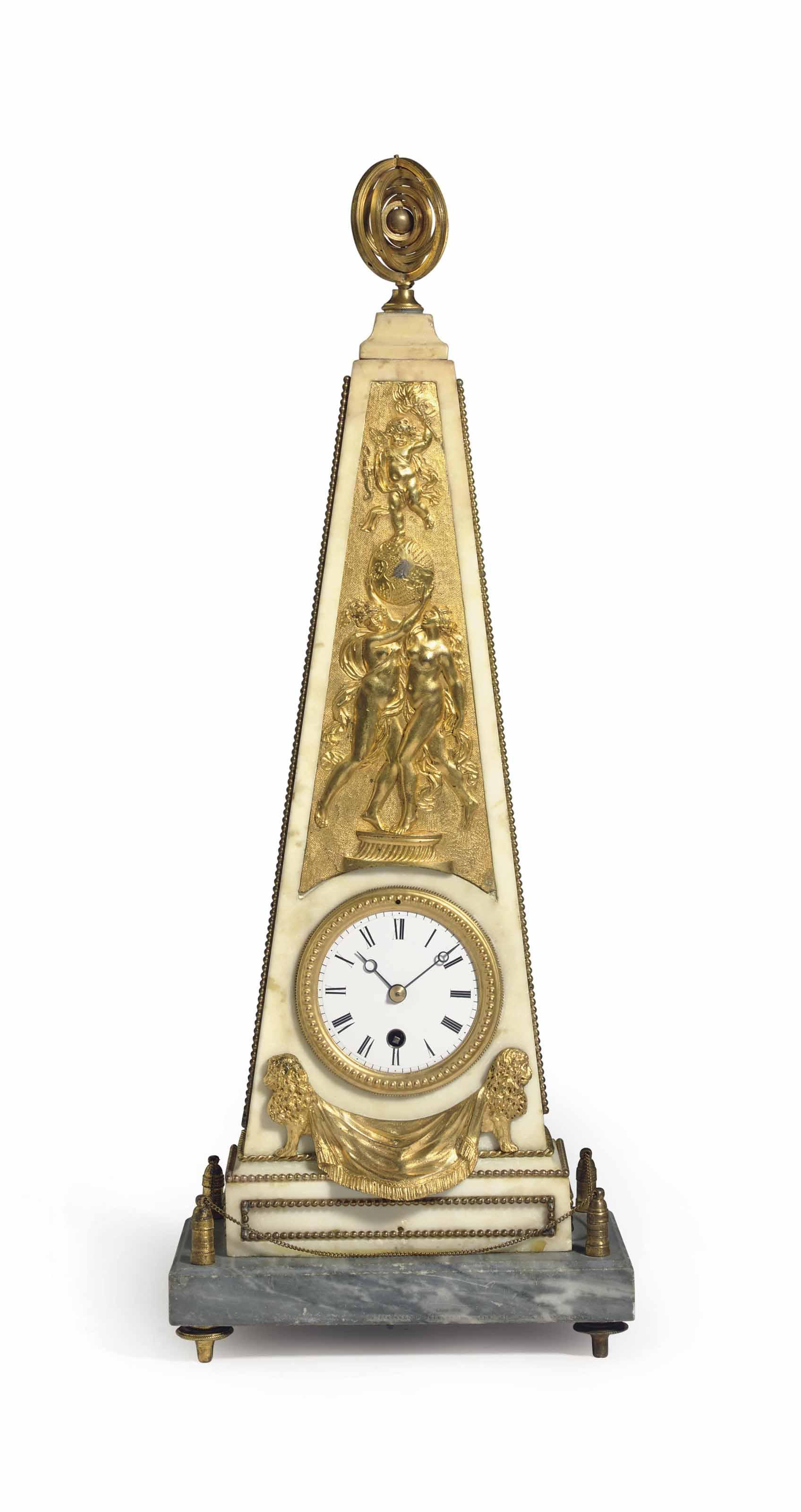 A LATE LOUIS XVI ORMOLU, WHITE