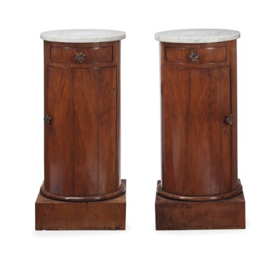 A PAIR OF NEOCLASSICAL WALNUT
