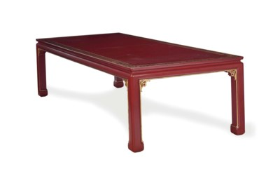 A CHINESE STYLE RED LACQUER AN