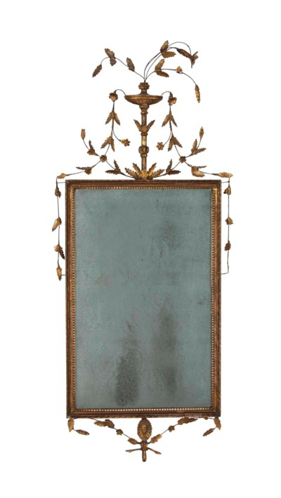 A NEOCLASSICAL GILTWOOD MIRROR