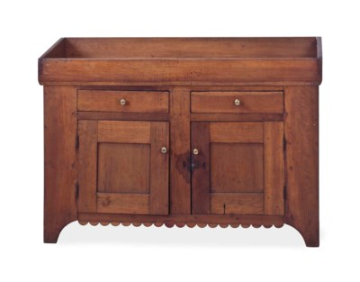 A CHERRY WOOD DRY SINK,