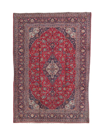 A KASHAN CARPET,